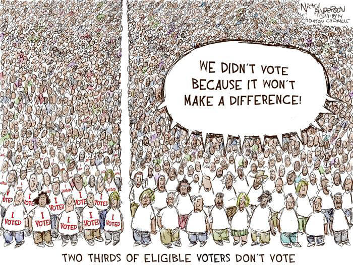 Voter Apathy Political Cartoon